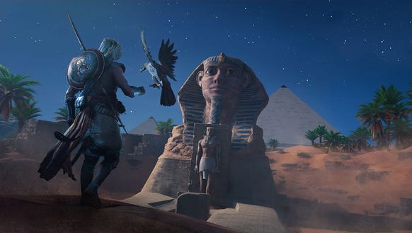 A scene from 'Assassin's Creed Origins.'