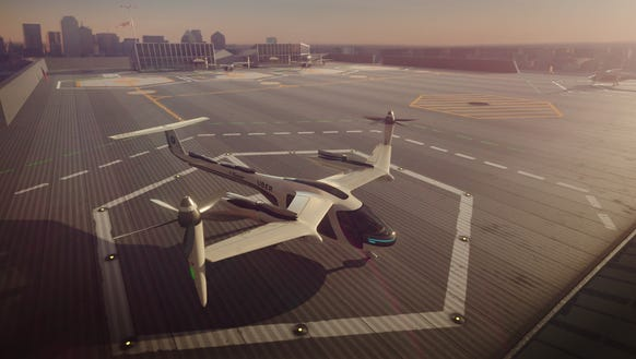Uber announced it will bring flying cars to Dallas