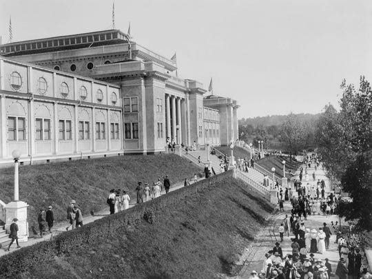 Thompson Photo Products The Main Building was a two-story attraction at the 1910 Appalachian Exposition at Chilhowee Park.