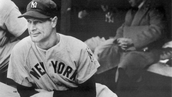 Lou Gehrig on the dugout steps at Briggs Stadium on May 2, 1939, the afternoon his iron-man streak ended.