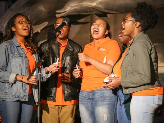 "The FAMU choir sang ""Amazing Grace"" and ""Somewhere"