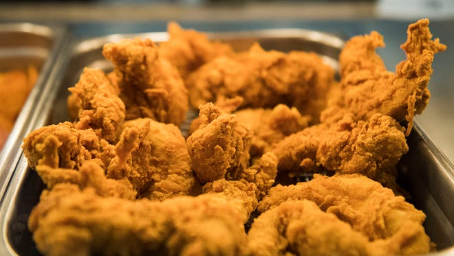 Krispy Krunchy Chicken, which was recently called the country's best fast-food fried chicken, is served at the Keith Avenue Market owned by Jimmy Murfiq in Knoxville Tuesday, Jan. 30, 2018.