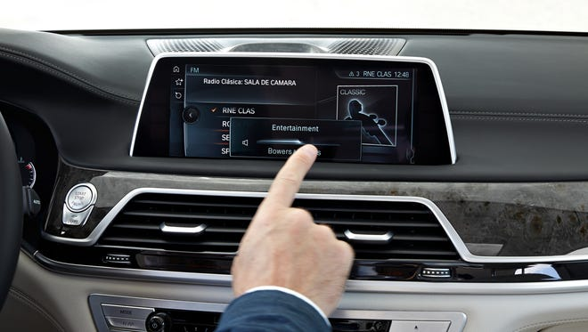 The spin of a finger can control the stereo volume in the new BMW 7 Series sedan