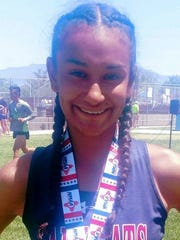Sophomore Lady Cat Yasmin Chaparro placed sixth in