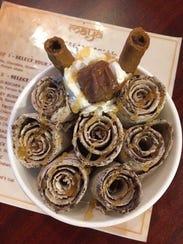 Thai rolled ice cream at Maya Ice Cream Rolls.