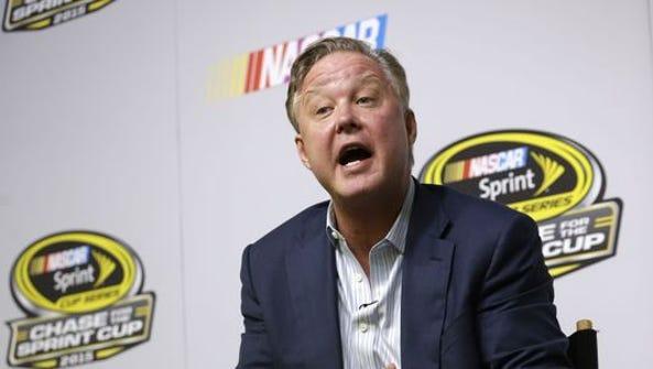 NASCAR chairman Brian France announced a plan designed
