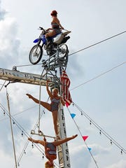 Circus Una will have performers as high as 32 feet in the air when they perform at 2016 Delmarva Bike Week.