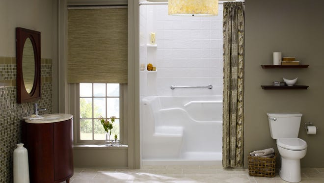 Home modifications to mature in place can include  installation of bath and shower grab bars.