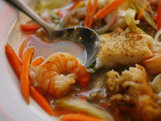 Green curry seafood soup was an example of the eclectic