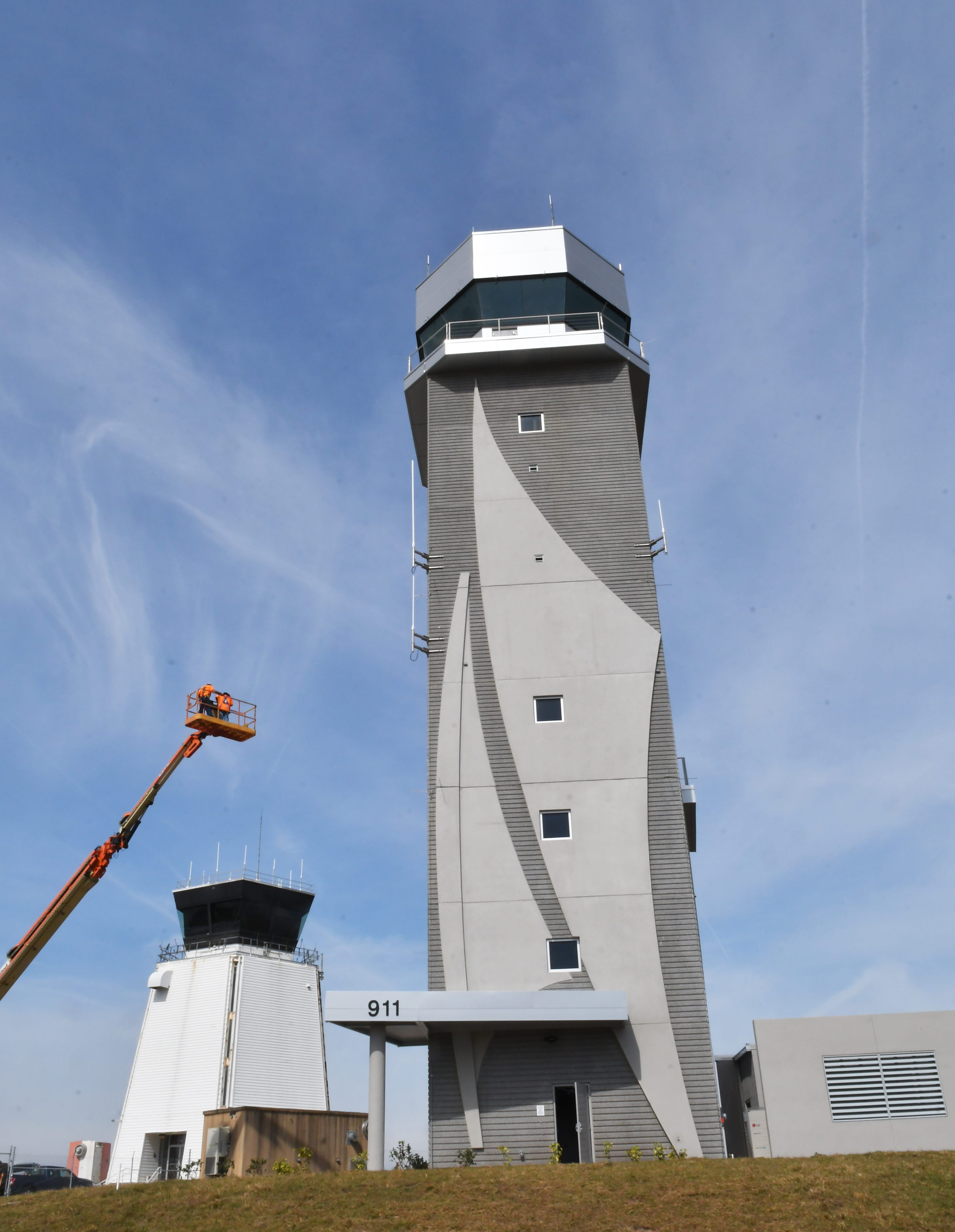 Air traffic control tower & Tower lighting event at Orlando Melbourne International Airport