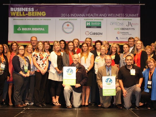 Delaware County receives its Healthy Community award