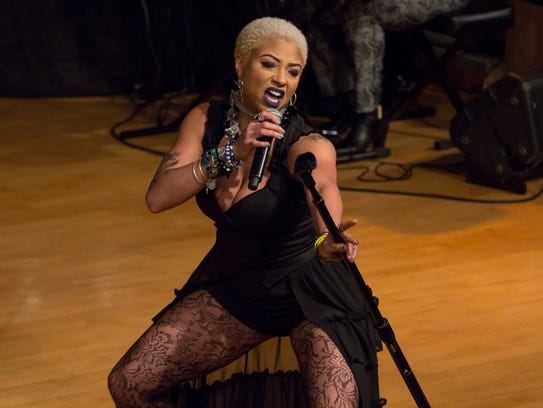 Detroit-based singer Steffanie Christi'an performs