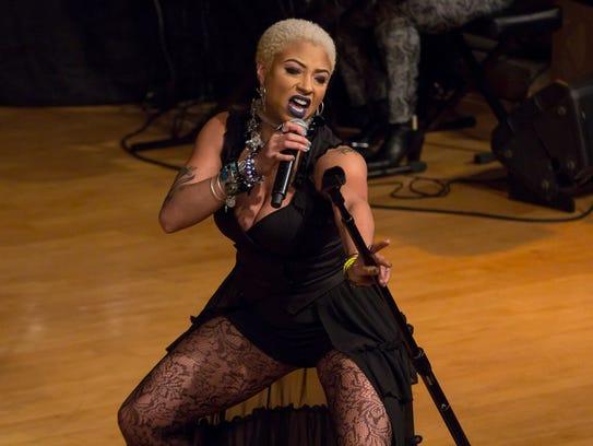 Detroit-based singer Steffanie Christi'an performs