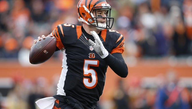 "Cincinnati Bengals quarterback AJ McCarron says he is ""at peace"" with being the backup quarterback for another season."