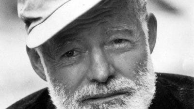 Author Ernest Hemingway, photographed in Spain, 1959.