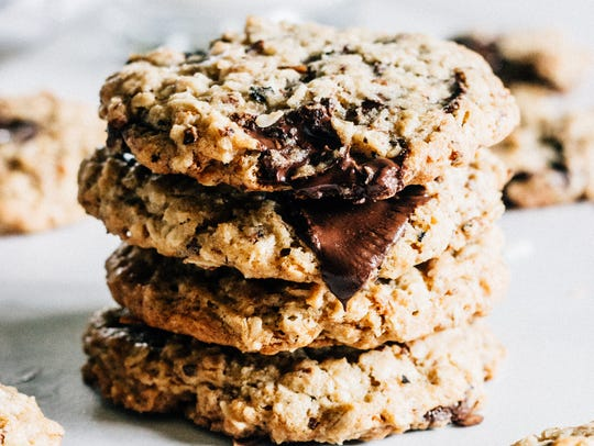 Chocolate Chunk and Toasted Coconut Oatmeal Cookies