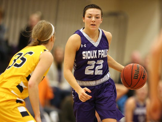 Former Pulaski standout Mariah Szymanski has moved into the starting lineup for the University of Sioux Falls.