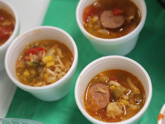 There were several types of soups to sample at the