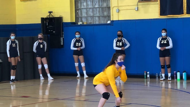 Medford's Rachel May Murphy playing for Arlington Catholic volleyball.
