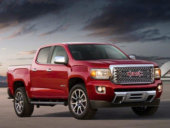 GMC is adding an upscale 2017 GMC Canyon Denali pickup