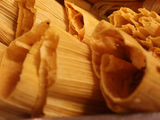 Red tamales.