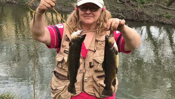 Another good day on the water for Carol Monday.