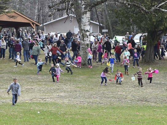 The egg rush is on as Easter egg hunters take off in