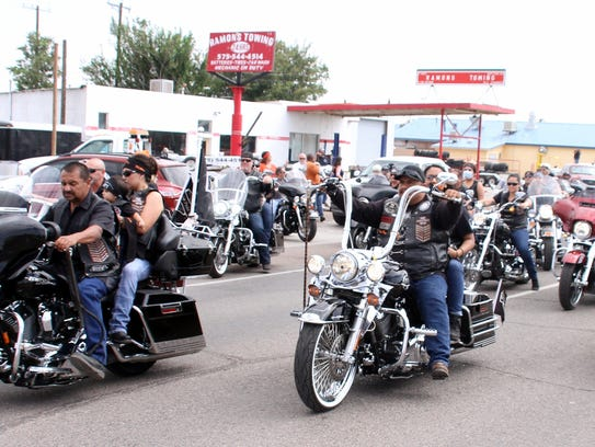 Close to 200 motorcycles roared through the streets