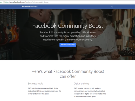"Facebook announced today that it will bring a four-day training camp -- dubbed ""Facebook Community Boost"" -- to Greenville in May that aims to help small businesses improve their digital strategies."