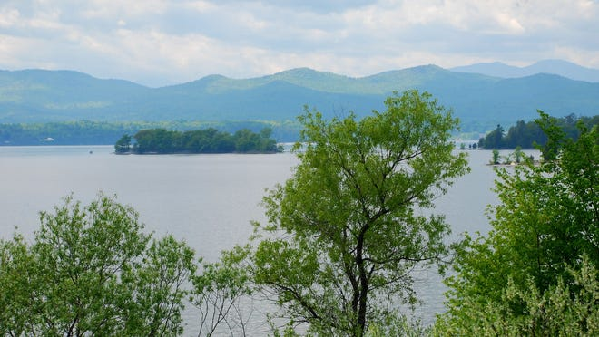 View of Lake Champlain from Button Bay State Park