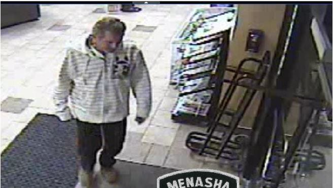 "The suspect in the ""smash and grab"" at JS Foods on Sunday morning."