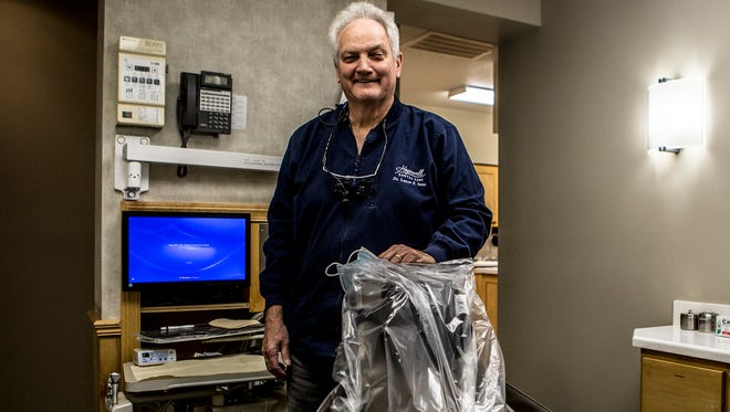 Dr. Lance Senn, DDS, stands in one of his exam rooms at Hopewell Dental in Heath.