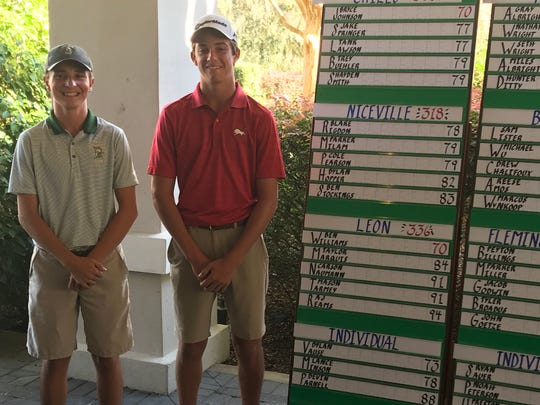 Lincoln's Dylan Vause shot 73 and Leon's Ben Williams shot 70, helping both qualify for the Class 3A state tournament.