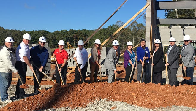 Fairview city and chamber leaders join representatives of TriStar Horizon Medical in breaking ground on the new Fairview Medical Office Building October 16, 2017.