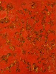 """Beauford Delaney's 1963 """"Abstraction #12"""" was recently"""