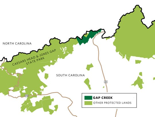 Gap Creek will preserve 955 acres of land along the