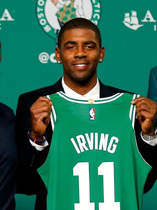 677560bca736 AP CELTICS NEW ADDITIONS BASKETBALL S BKN USA MA. Boston Celtics Kyrie  Irving ...