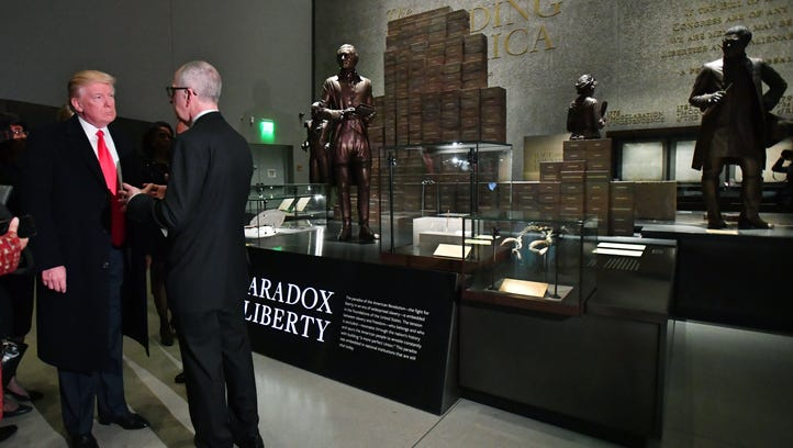 President Trump visits the Smithsonian National  Museum