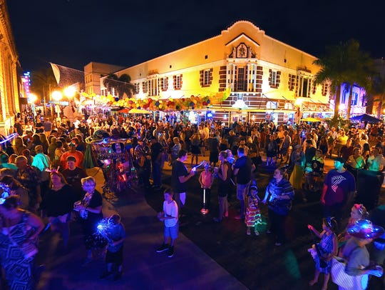 Downtown Fort Myers on New Year's Eve. This photo is