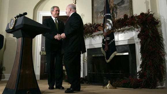 In this December 2004 file photo, President George