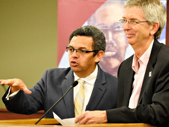 From left, CASA Executive Director Gustavo Torres and
