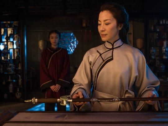 Michelle Yeoh (front) and Natasha Liu Bordizzo, in