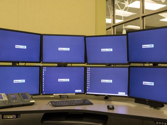 Computers are shown at Avera eCare in Sioux Falls, S.D on Friday, May 4, 2018.