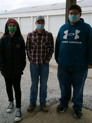 Pictured from the left are this year's 4-H Federation officers; Elizabeth Reed, Max Johnson and Mason Tessier. Unavailable for the photo was Lydia Curless.