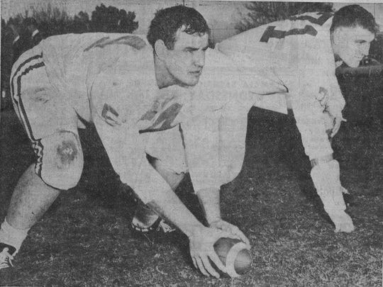 Former St. John's standout lineman John McDowell (No. 71) was in training camp with Vince Lombardi and the Green Bay Packers 50 years ago this week.
