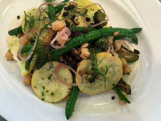 Indiana-grown summer squash and green bean salad on