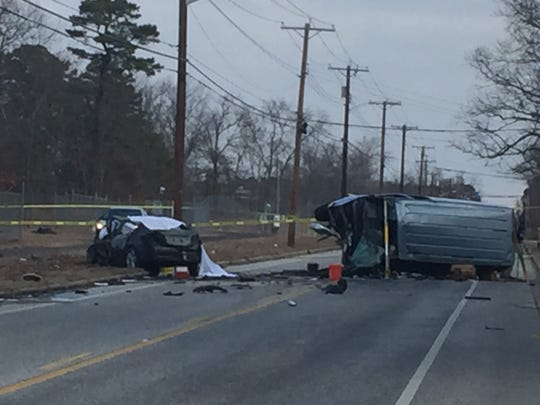 One person died and 11 other were injured in collision