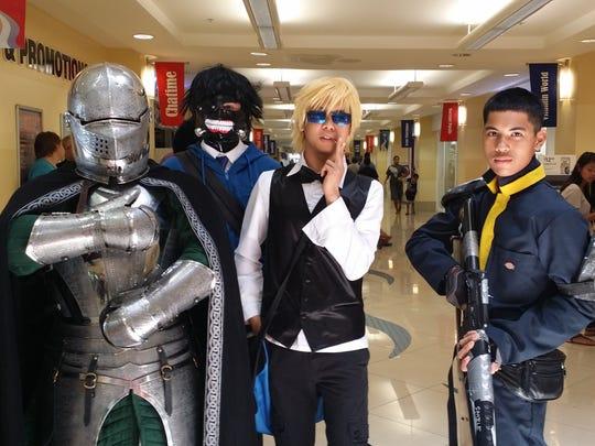 EpixCon goers embrace the cosplay tradition. From left: Hayden Ward, Brandon Villagomez, Darren Caldwell and Roman Quinata.