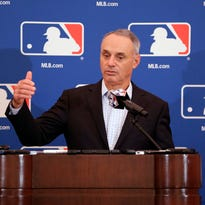 Rob Manfred offers MLB players another option: Play faster, and no pitch clock