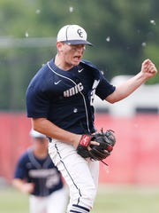 Central Catholic pitcher Jacob Marin after striking